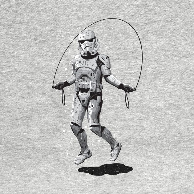 56a75910 Awesome 'STORMTROOPER+SKIPPING' design on TeePublic! - Funny Cool Shirt  (SciFi Tshirts)