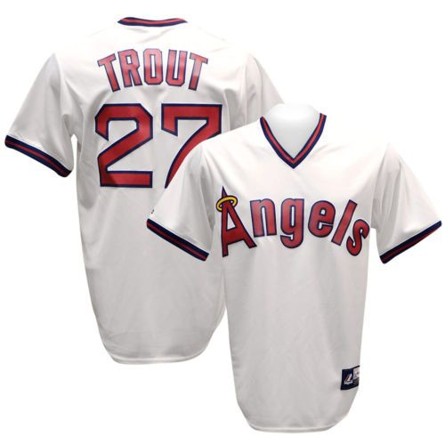 6f18ad72a CALIFORNIA ANGELS Mike Trout Cooperstown Throwback Jersey L ...