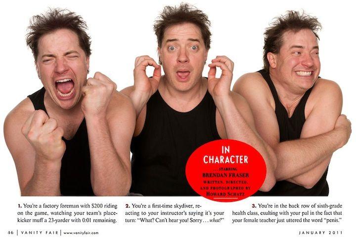 Actors In Character 15 Total Brendan Fraser Actor Funny Faces
