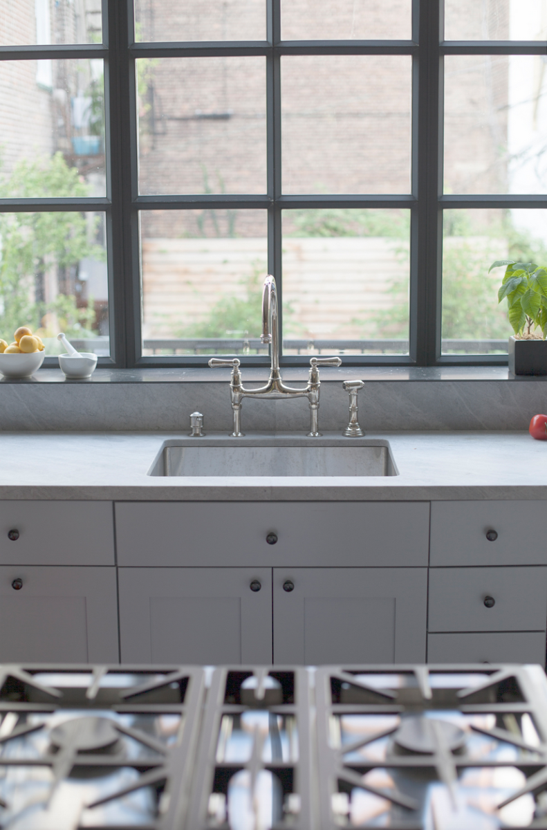 photos of a gorgeously designed nyc home kitchen and pantry