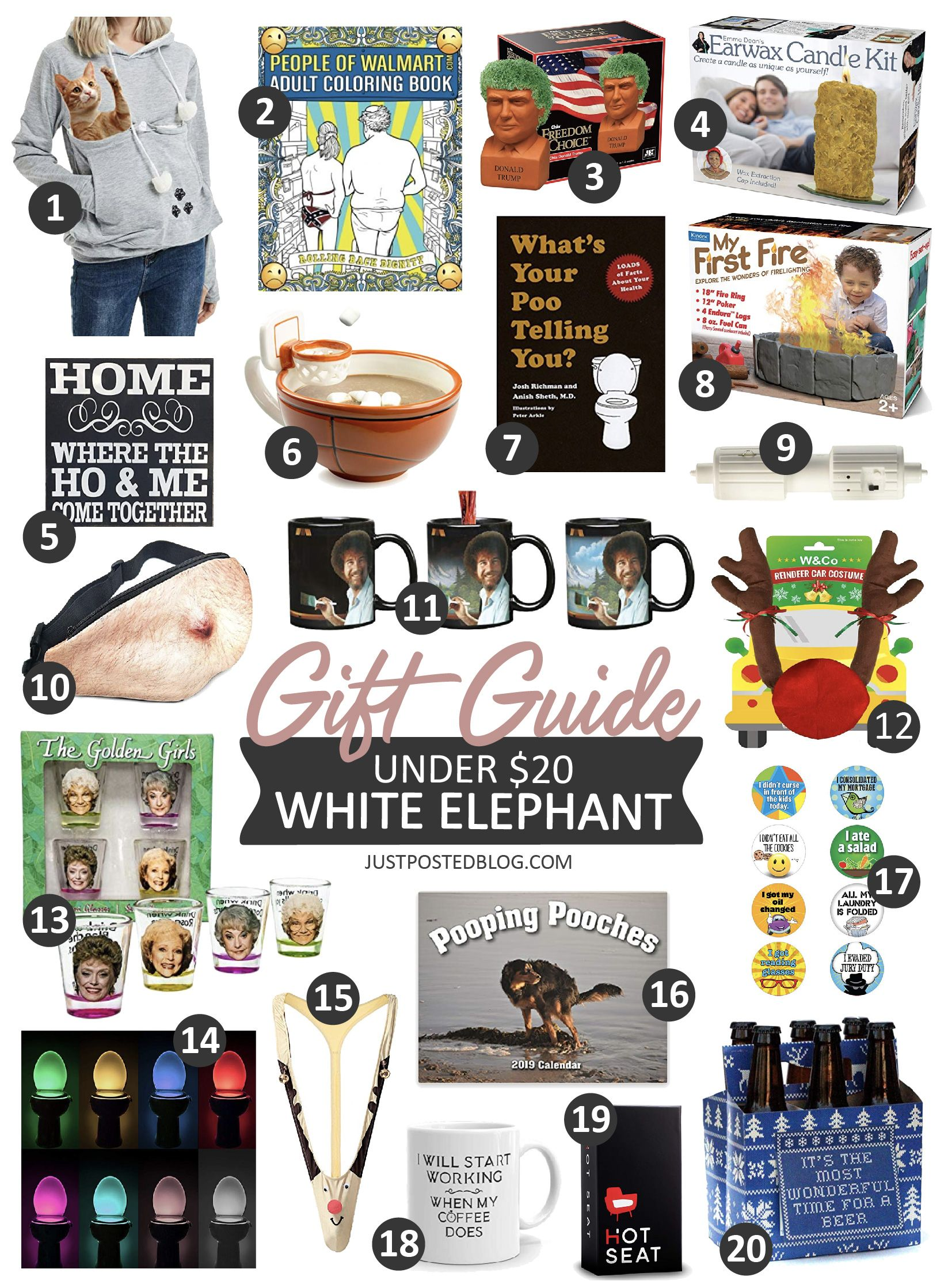 20 Under 20 White Elephant Gift Ideas From Amazon Some Great Gag Gifts If You Need Them Too White Elephant Gifts Funny Elephant Gifts White Elephant Gifts