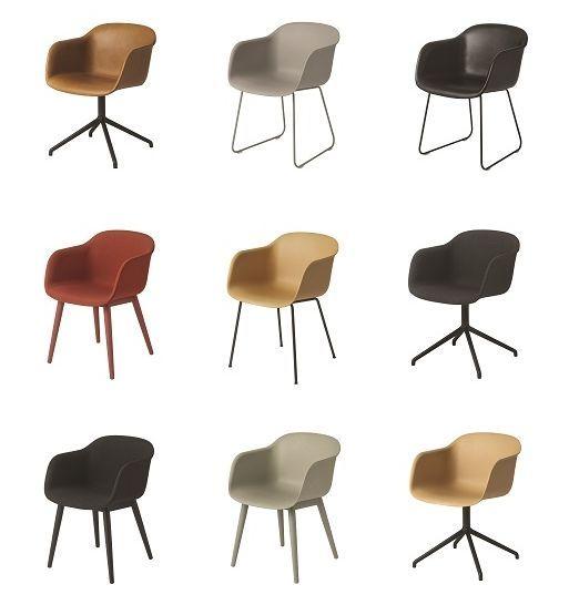 muuto fiber chair cognac leather sled base cool. Black Bedroom Furniture Sets. Home Design Ideas