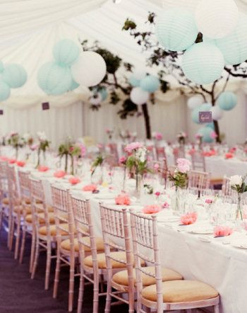 Pastel Marquee Decoration