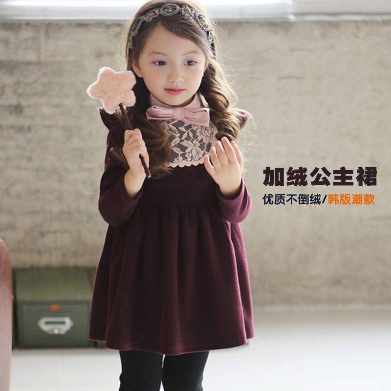 6e4961800 diy vestido manga larga terciopelo niña de 2 años - Buscar con ...
