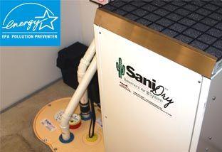 Our high-performance, Energy Star SaniDry dehumidifier