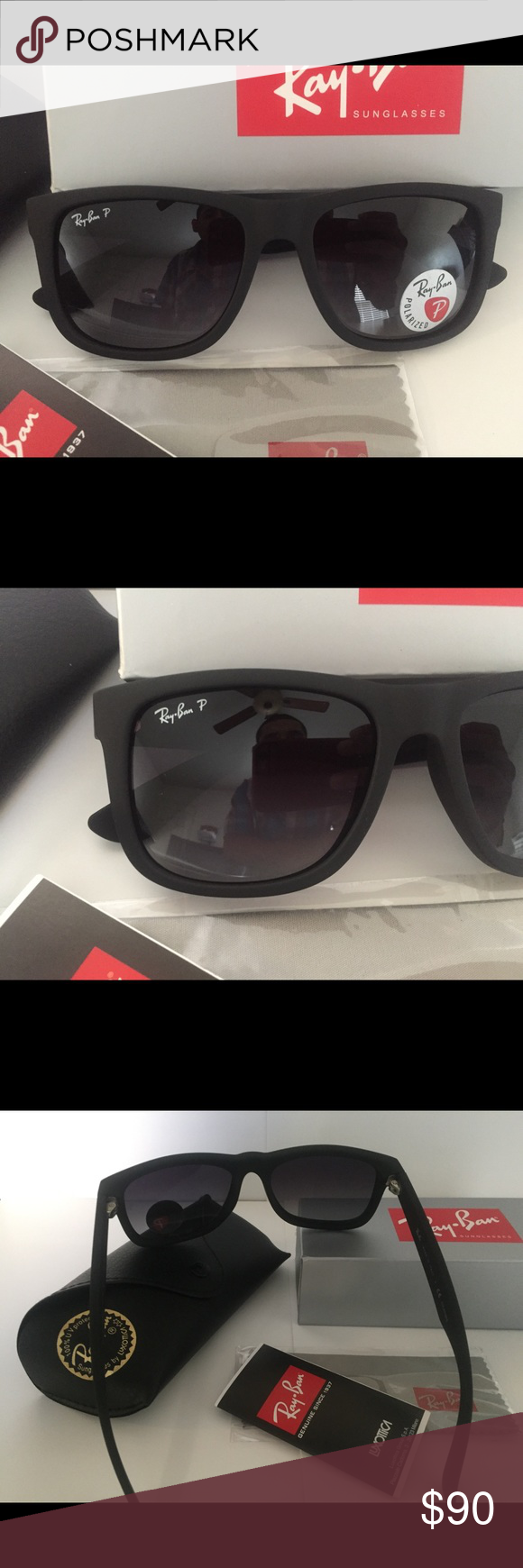 8368d9d87d091c Ray Ban RB4165 Justin Polarized Grey Gradient Lens Brand new and authentic Ray  Ban Justin 54mm