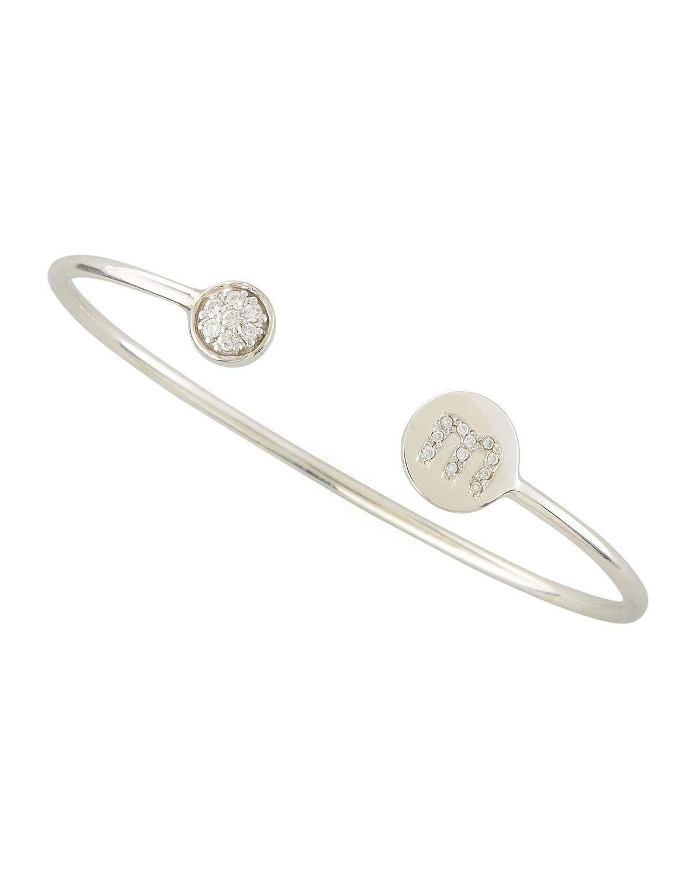 Sarah Chloe Diamond-Ball & Pave Diamond Initial Bracelet PPbUBt3Fyt