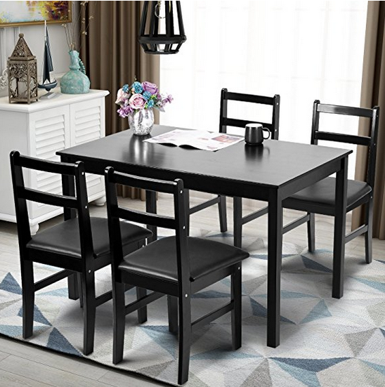 Eye Catching Space Saving Design Features 4 Chairs And 1 Table To