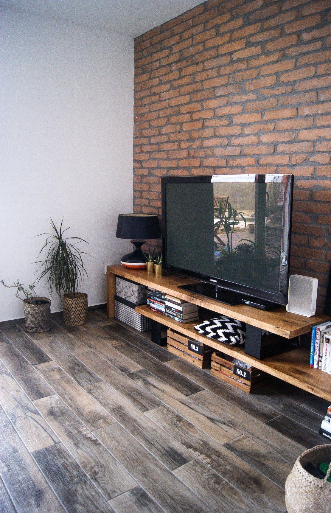 industriedesign wohnzimmer in 2020 | brick living room