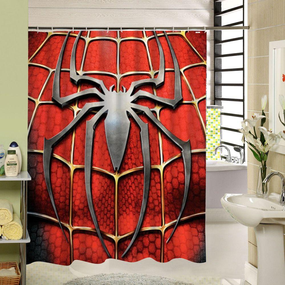 Polyester Waterproof Bath Curtains Sun Flower Print Shower Curtain Practical LFA