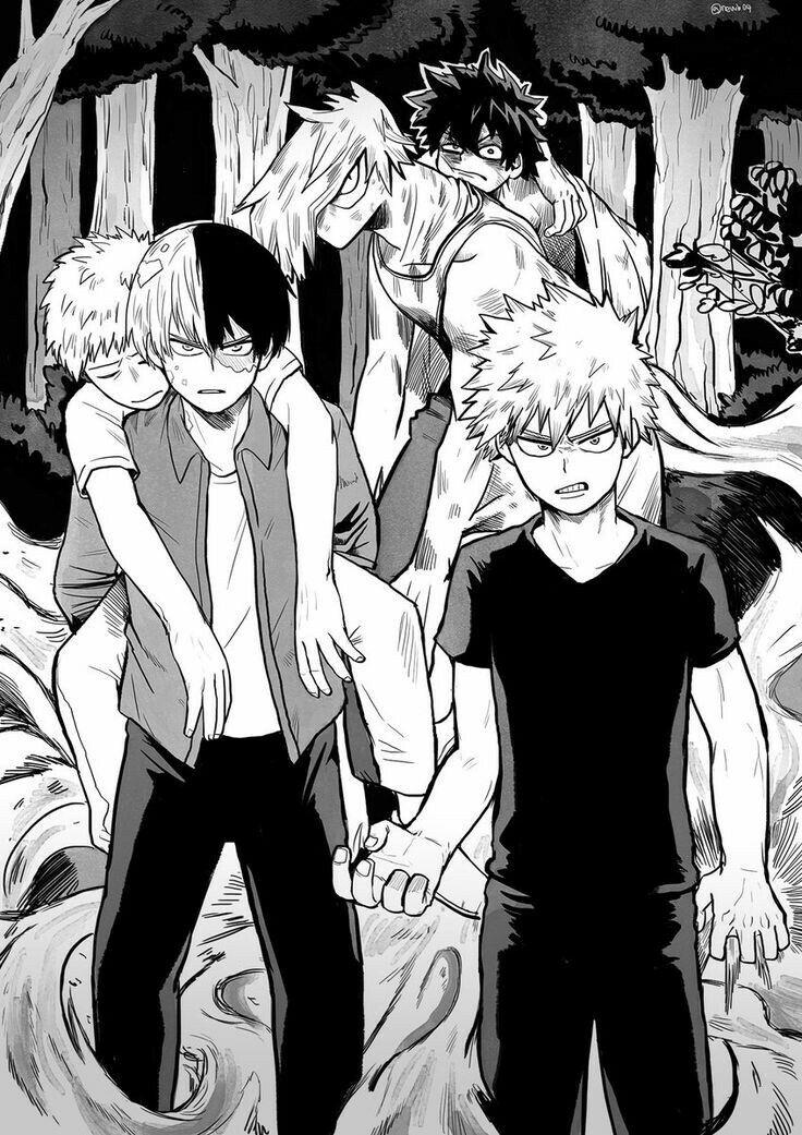 Izuku, Katsuki, Shouto, Mezou, Mashirao, hurt, wounded