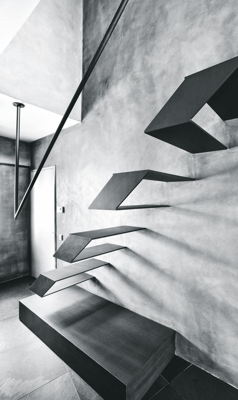 innenarchitektur industriellen stil karakoy loft, schwebende treppen | treppen-vielfalt | pinterest | innenarchitektur, Design ideen