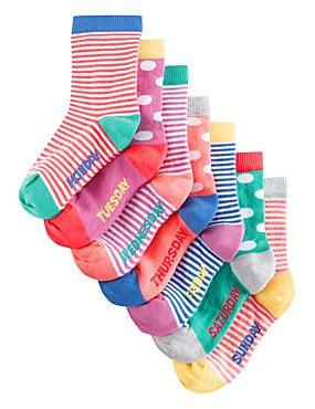 Days Of The Week Socks 7 Pairs Of Freshfeet Cotton Rich Days Of The Week Socks With