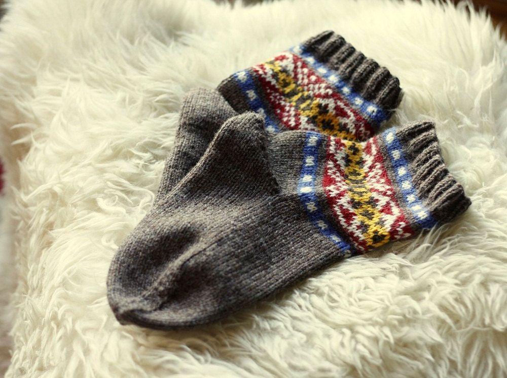 Skroo Fair Isle Socks - PDF Knitting Pattern | Fair isles ...