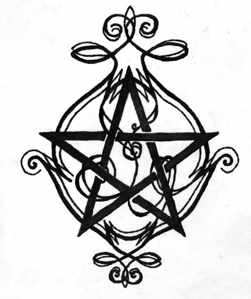 pentagram tattoo design by nymphera on deviantart bits bobs and trinkets pinterest. Black Bedroom Furniture Sets. Home Design Ideas