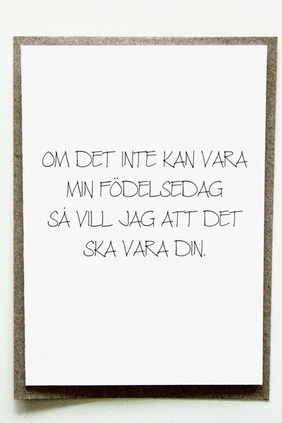 Funny Swedish Birthday Card Roliga Vykort Kort Till Fdelsedag