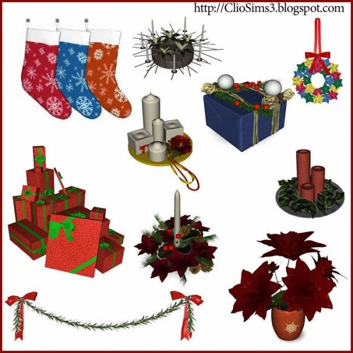 Christmas Decor 2017 By Clio Sims 3 S Cc Caboodle