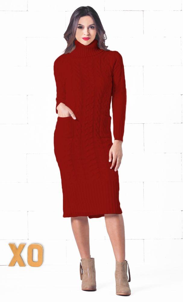 Black Turtleneck Long Sleeve Dresses