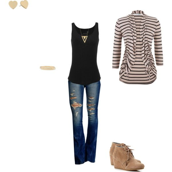 Untitled #120 by mauramcd on Polyvore featuring maurices, Juvia, TOMS, Kate Spade and Gorjana