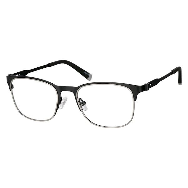 8b511ee571 Zenni Browline Prescription Glasses Black Stainless Steel 3211721 Black  Stainless Steel