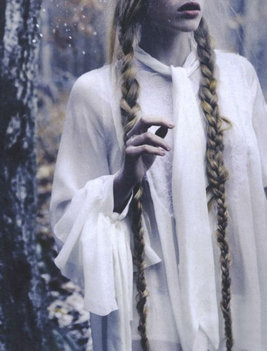 Mythical Long Hair Styles Long Braids White Witch