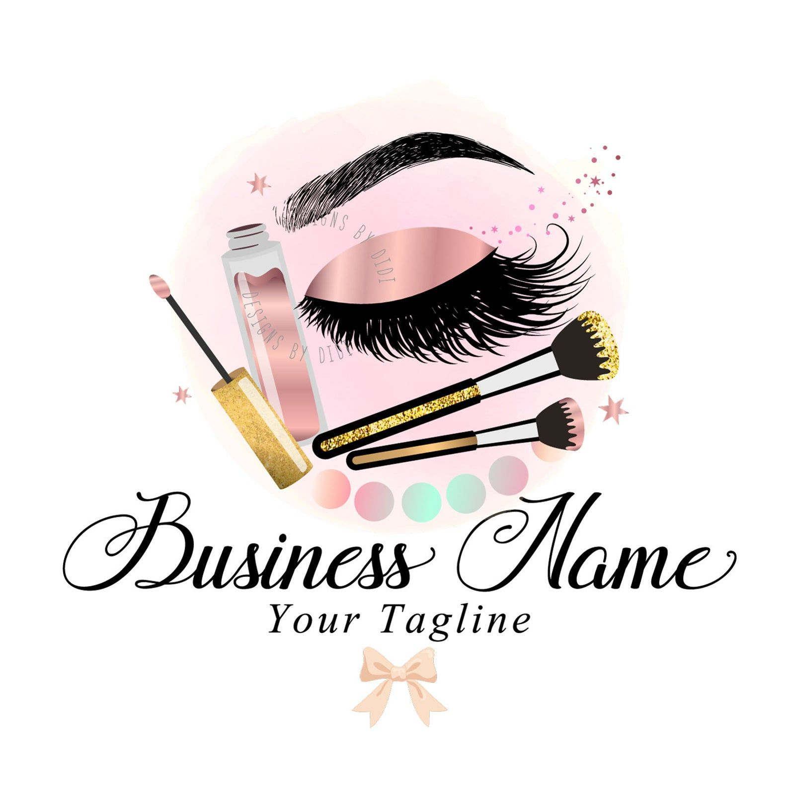 logo design, custom logo design, logo beauty, lash logo
