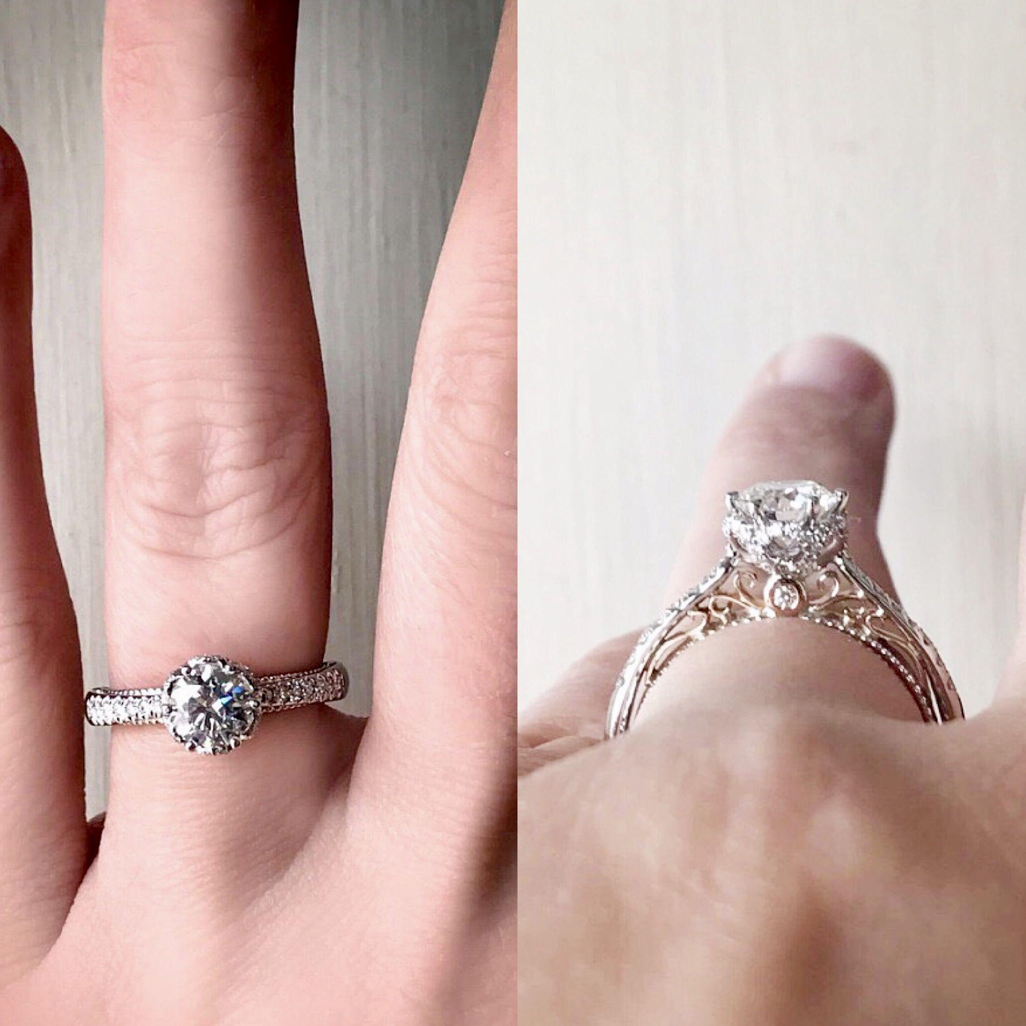 My one-of-a-kind, custom designed Verragio engagement ring. Platinum ...