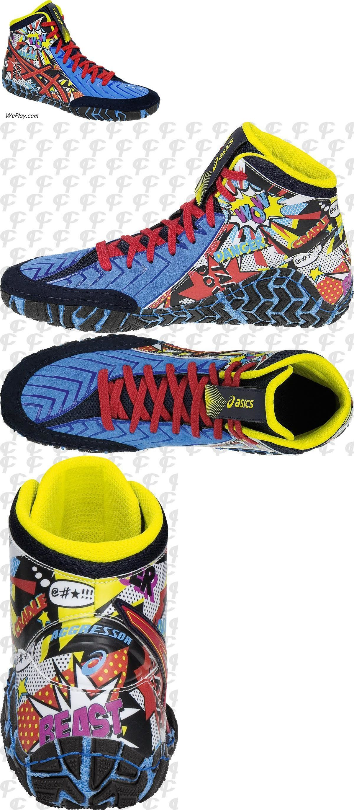 the best attitude 9efd2 2ebed Footwear 79799  New! Asics Aggressor 3 Limited Edition Le Comic Hero  Wrestling Shoes J603y-3823 BUY IT NOW ONLY   129.95