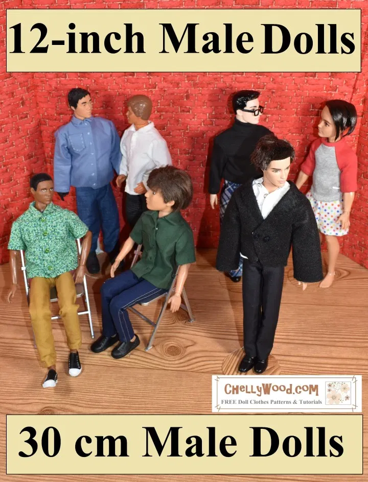 12 Inch Male Dolls (30 cm dolls): Free Printable Doll Clothes Patterns (Galleries' Links