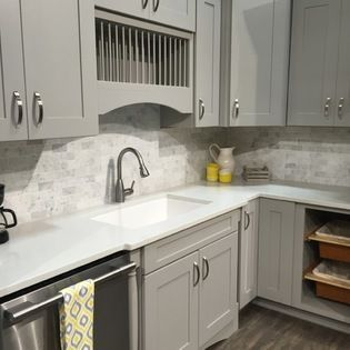 We Love This Grey Kitchen From Stine. Mid Continent Cabinets Feature The  Jacobsen Door