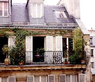 This Is A Cozy Paris Apartment Across The Way From My 6th Floor Hotel Room.