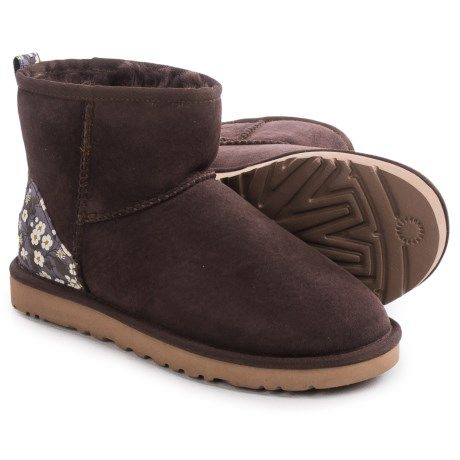 UGG® Australia Classic Mini Liberty Boots - Suede (For Women) in Pony Brown