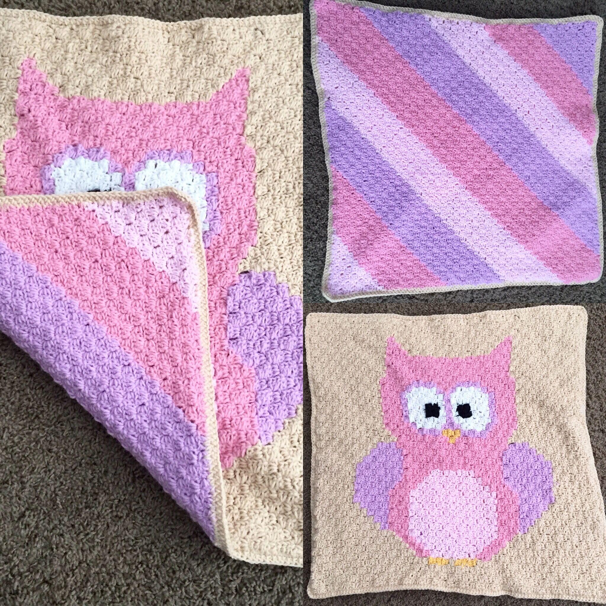 Free Pattern ? Baby Owl Corner to Corner Blanket ...
