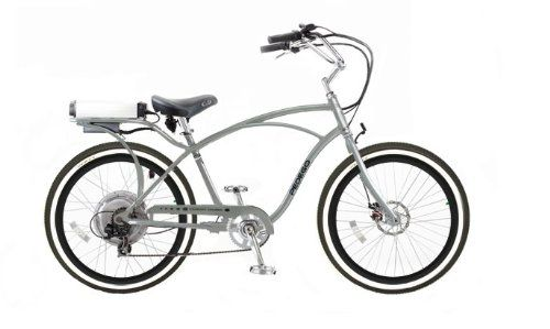 Pedego Silver Comfort Cruiser Classic Electric Bike With Black And Silver Rims Whitewall Tires Comfort Bike Electric Bike Bike