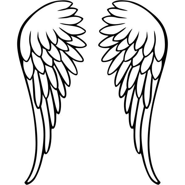 """Résultat de recherche d'images pour """"ailles d'ange dessin"""""""