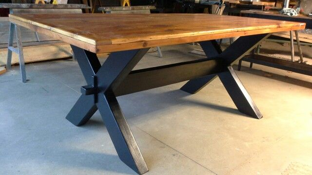 Reclaimed barnwood table from my workshop COLDWATER PRIMITIVES