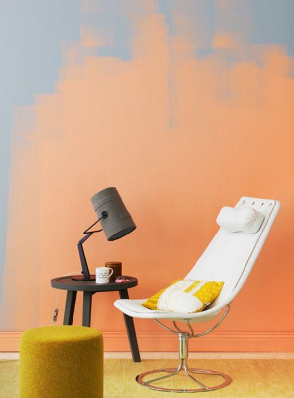 Tolle Wandgestaltung mit Farbe wandfarben ideen herrlich orange - wohnzimmer ideen orange