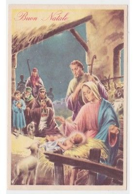 Immagini Natalizie Sacre.1956 C Parisi Cartolina Fp Casa S Maria Natale Nativita