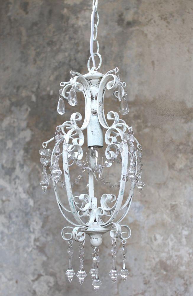 Attractive Details Zu Kronleuchter Lüster Hängelampe Weiß Antik Vintage Landhaus  Shabby Deckenlampe Home Design Ideas