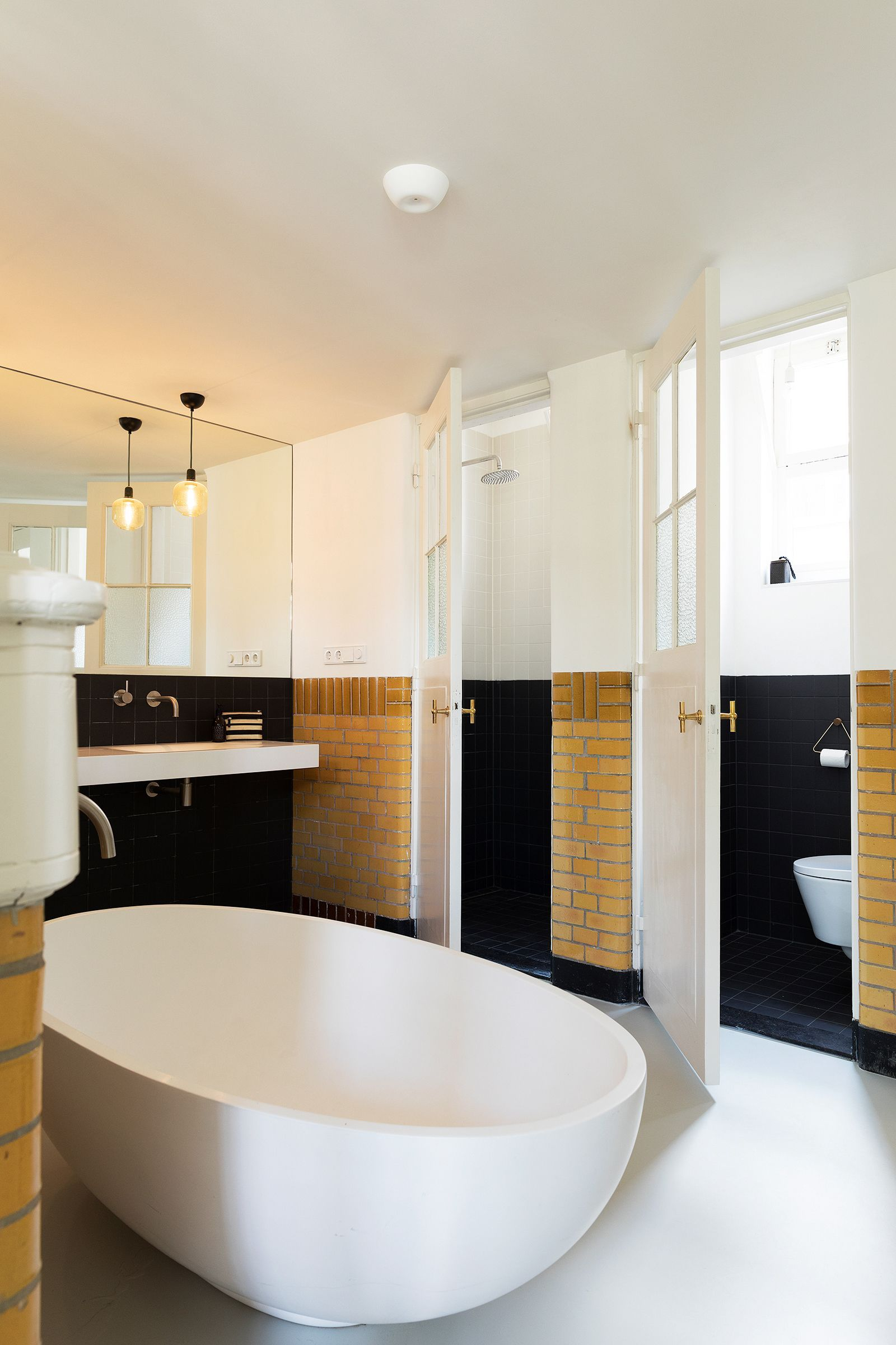 The five original lavatories were updated and integrated into the ...