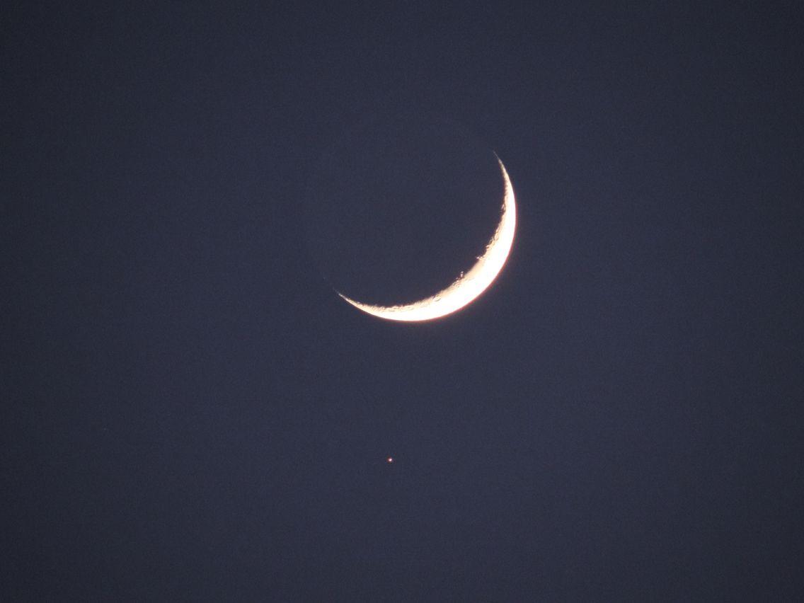 Croissant De Lune Et Son Etoile Du Berger Croissant De Lune Etoile Du Berger Lune Dessin