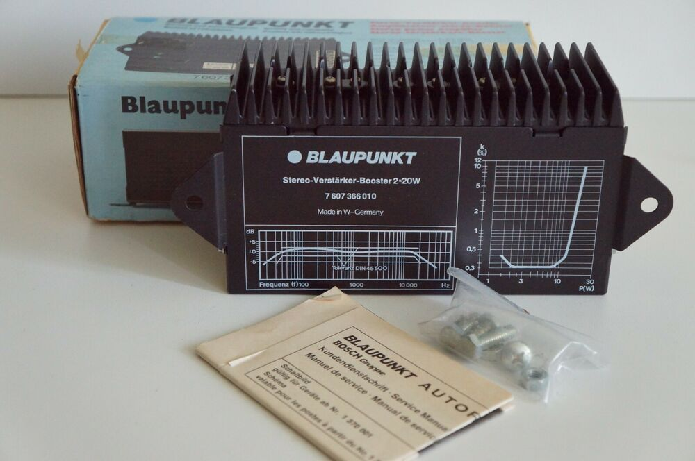 VINTAGE BLAUPUNKT AMPLIFIER BOOSTER 1236 2*20W 7607366010