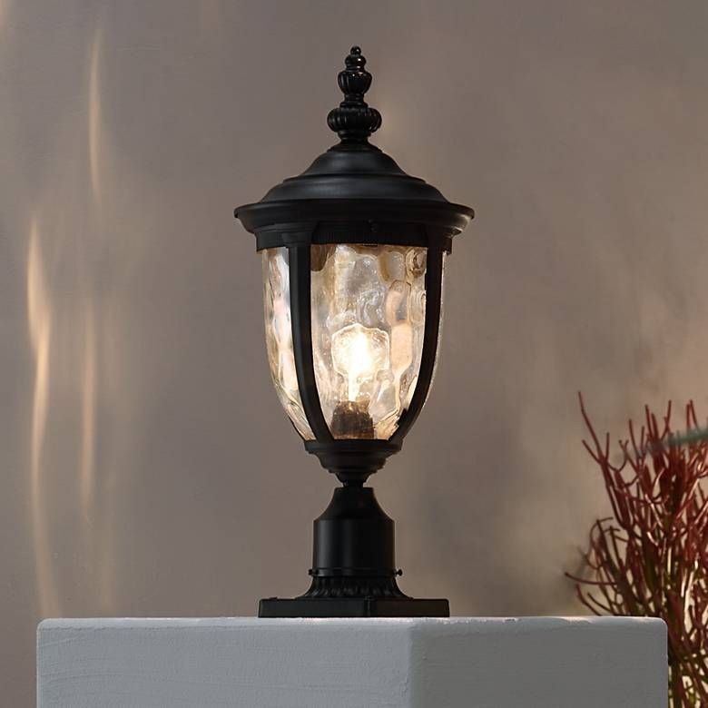 Bellagio 24 1 2 H Black Post Light With Pier Mount Adapter 17d93 Lamps Plus Post Lights Outdoor Post Lights Lamp Post Lights