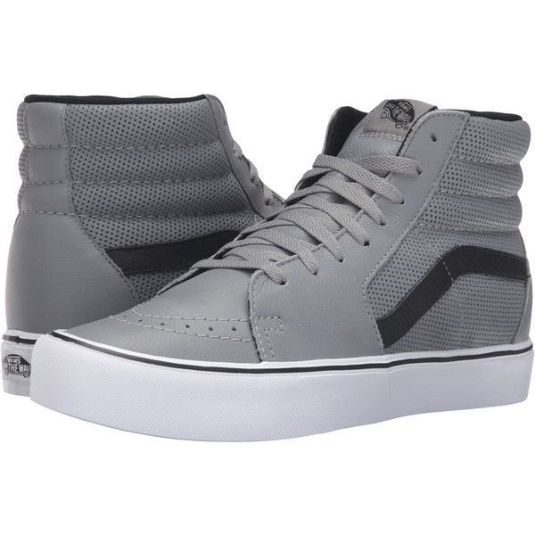 Vans Sk8Hi Lite Perf Gray Mens Skate Shoes 48