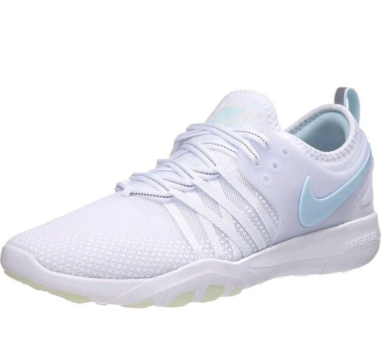 43b689727b8f3 Nike Free TR 7 REFLECT Womens Size 7.5 Shoes White Glacier Blue AA2238-100