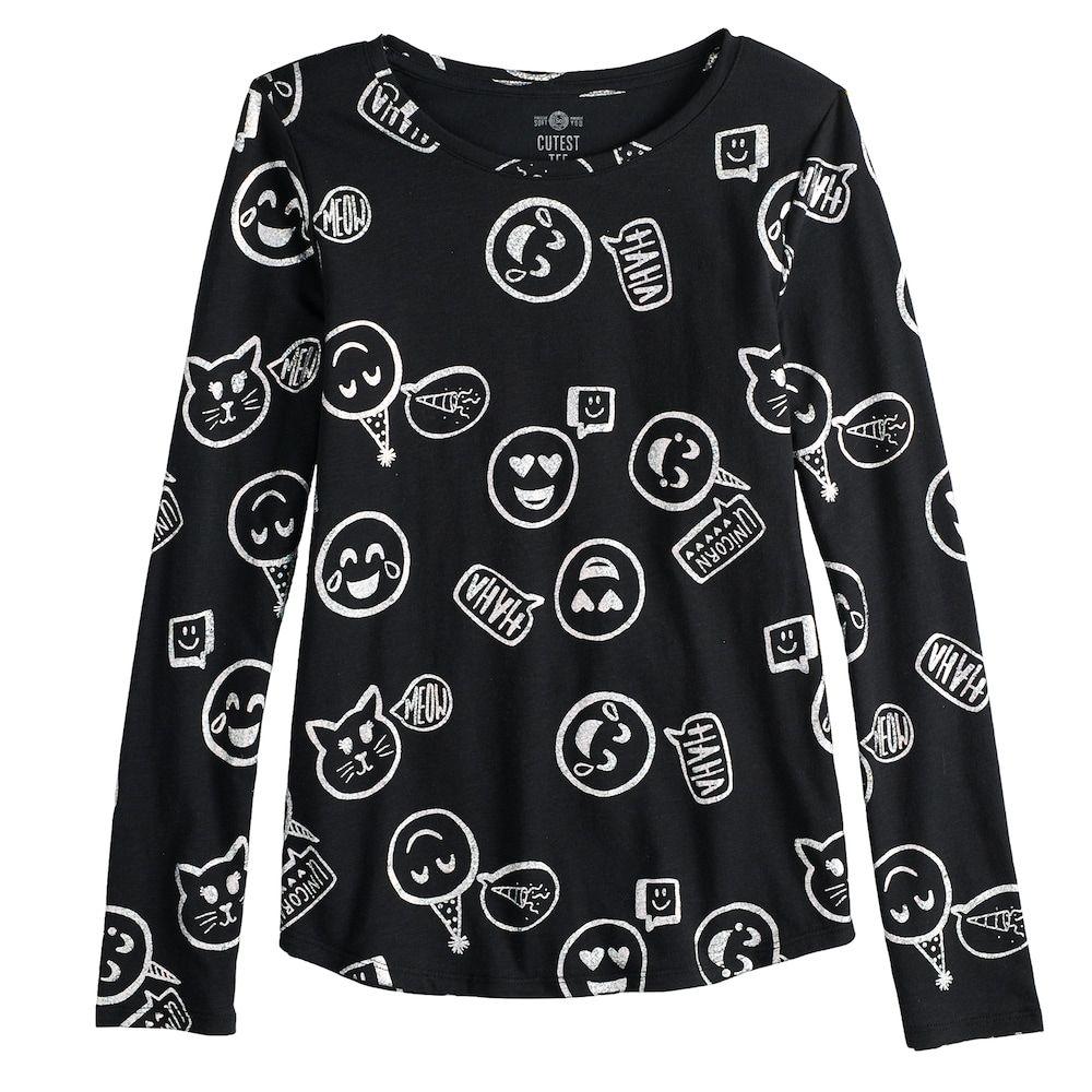 2744c0f9b7c So Girls 7-16   Plus Size SO Long Sleeve Core Tee