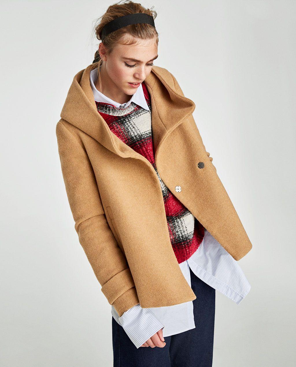 Abrigo Mujer Última Moda Semana Cuello Envolvente España Zara wrp71wq