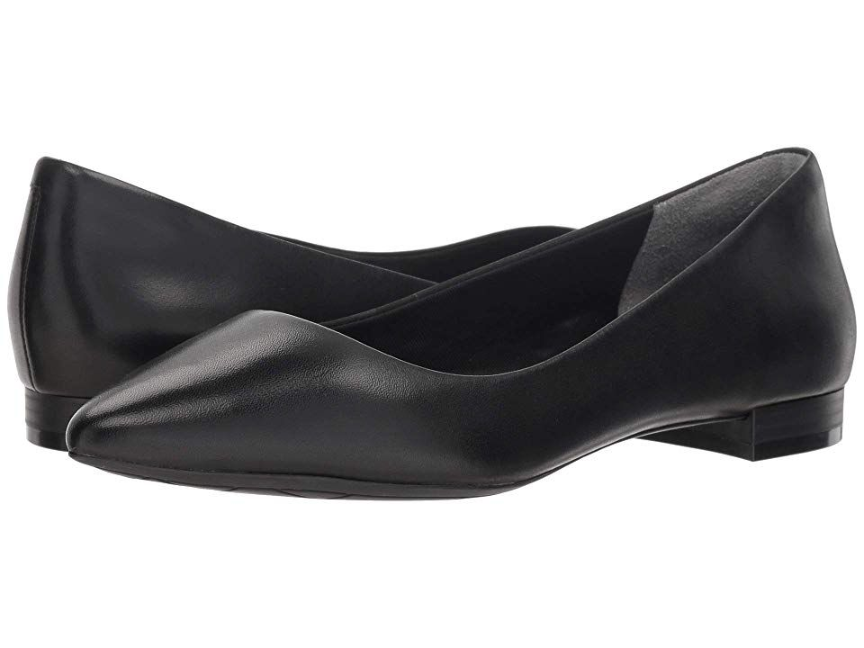 best service fa891 84764 Rockport Total Motion Adelyn Ballet (Black Burn Calf) Women s Dress Flat  Shoes. The