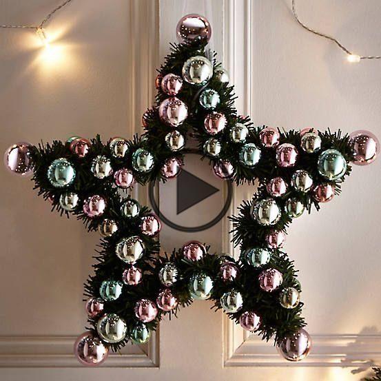 Star Bauble Wreath #baublewreath Star Bauble Wreath #baublewreath Star Bauble Wreath #baublewreath