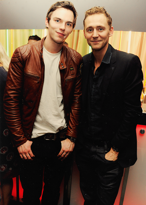 Hiddles and Nicholas Hoult  :D